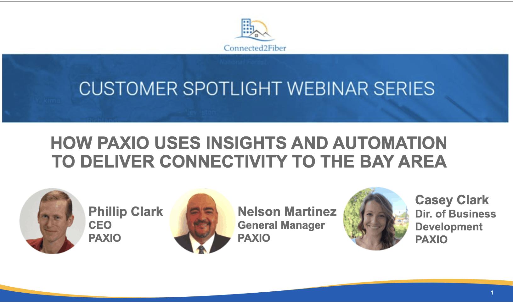 Paxio Customer Spotlight